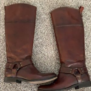 Frye Melissa Harness inside Zip Riding Boots